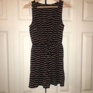 Black & Triangle Detailed Dress